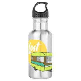 Wohnwagen-verlorene Retro Siebziger-Art Edelstahlflasche