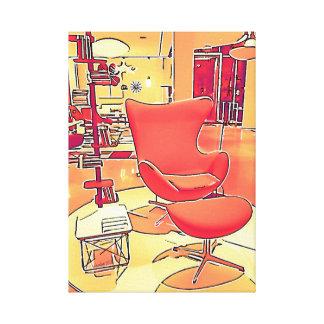 Wohnzimmer-Kunstdruck der Mitte des Jahrhunderts Leinwanddruck