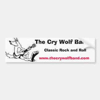 wolf11, die Schrei-Wolf-Band, klassischer Rock und Autoaufkleber