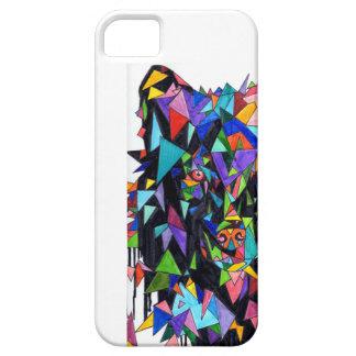 Wolf-abstrakter Vorderansicht-Telefon-Kasten Hülle Fürs iPhone 5