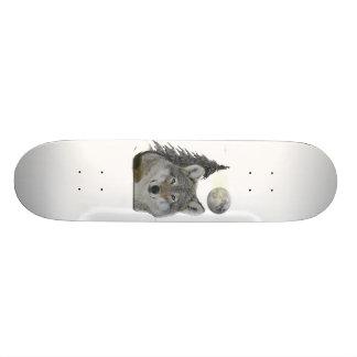 Wolf an den Nachtprodukten 18,7 Cm Mini Skateboard Deck