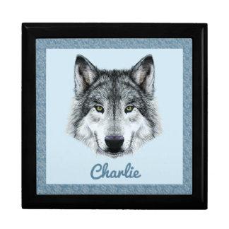 Wolf-Andenken-Kasten Schmuckschachtel