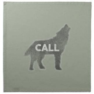 Wolf-Anruf Vintag (v1) Stoffserviette
