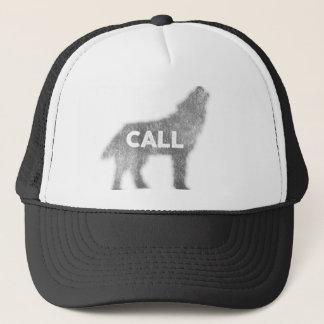 Wolf-Anruf Vintag (v1) Truckerkappe