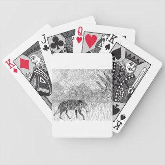 Wolf auf der Prowl-Skizze Bicycle Spielkarten