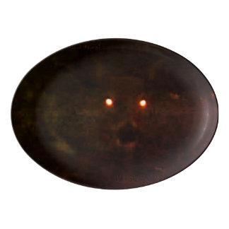Wolf-Augen Porzellan Servierplatte