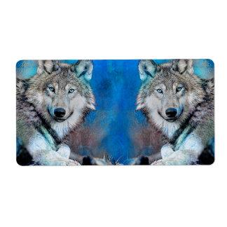 Wolf-blaue Medien-Kunst