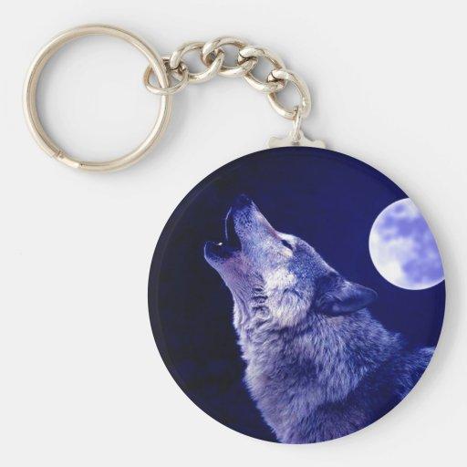 Wolf, der am Mond heult Schlüsselbänder