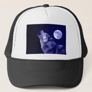 Wolf, der am Mond heult Truckerkappe