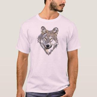 Wolf, der T - Shirt zeichnet