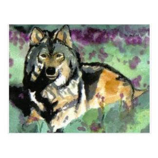 Wolf durch Paula Atwell Postkarte