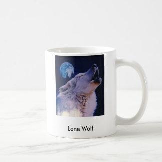 Wolf, einsamer Wolf Kaffeetasse