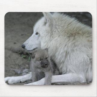Wolf-Elternteil Mousepad