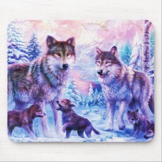 Wolf-Familie Mauspad