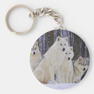 Wolf-Familie Schlüsselanhänger