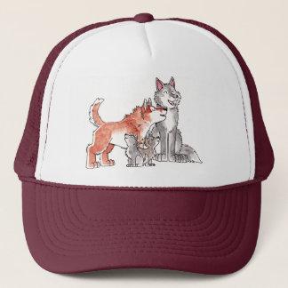 Wolf-Familien-Hut Truckerkappe