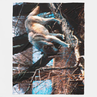 Wolf Fleecedecke