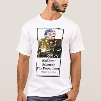Wolf-Fluss-freiwillige Feuerwehr 24/7 T-Shirt