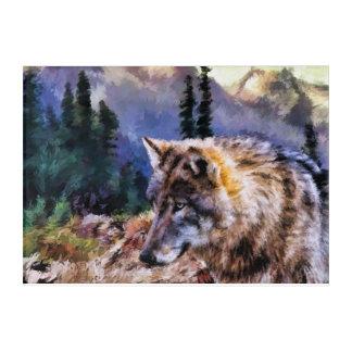 Wolf-Gebirgsacrylplatten-Wand-Kunst Acryldruck