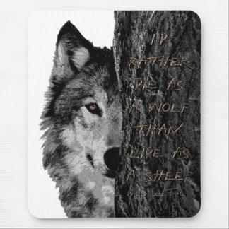 Wolf gegen Schafe Mousepad
