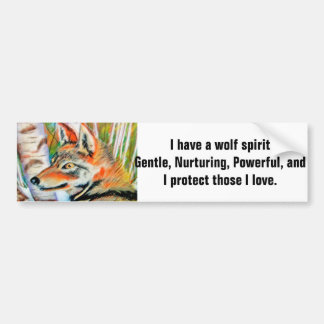 Wolf-Geist-Kunst Autoaufkleber