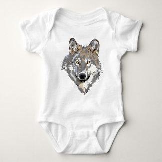 Wolf-Hauptkunst-Tätowierungs-Entwurf Baby Strampler