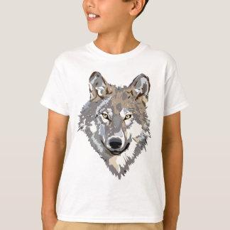 Wolf-Hauptkunst-Tätowierungs-Entwurf T-Shirt