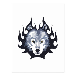 WOLF-HAUPTmedium Postkarte