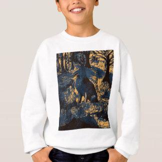 Wolf im Holz Sweatshirt