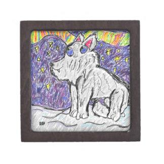Wolf im Schnee Schachtel
