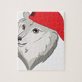 Wolf in der Baseballmütze Puzzle