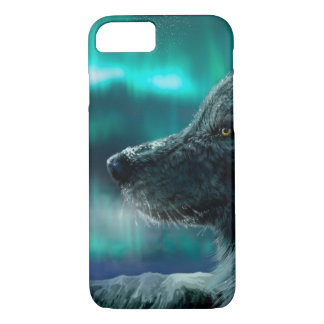 Wolf in der Nacht iPhone 8/7 Hülle