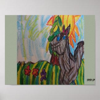 Wolf in der Sonne Poster