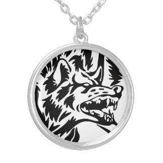 Wolf-Knäuel-Halskette Halskette Mit Rundem Anhänger