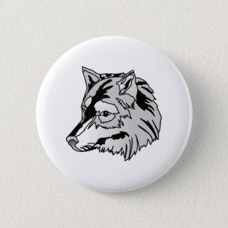 Wolf-Kopf Runder Button 5,1 Cm
