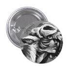 Wolf-Krieger-Mädchen-Button