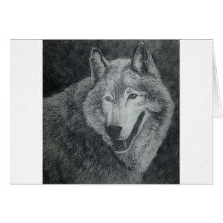 Wolf-Kunst Karte