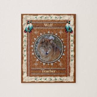 Wolf - Lehrer-Puzzle mit Kasten Puzzle