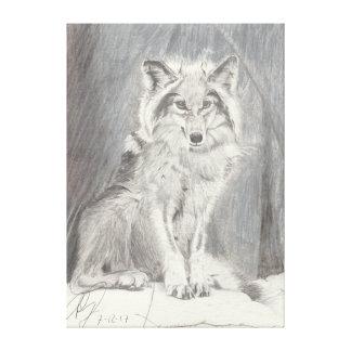 Wolf Leinwanddruck