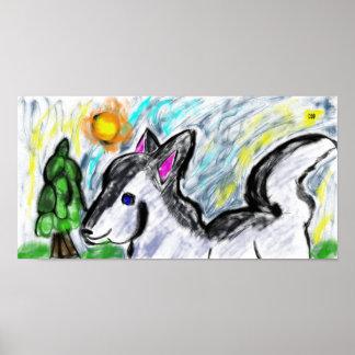Wolf-Liebesonne Poster
