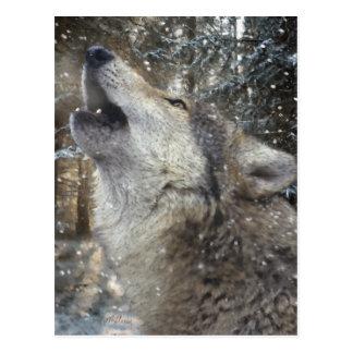 Wolf-Lied - Pastell Postkarte
