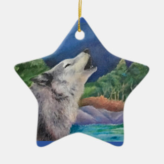 Wolf-Lied-Verzierung Keramik Ornament