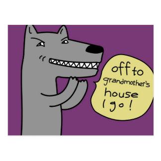 Wolf (lila) postkarte