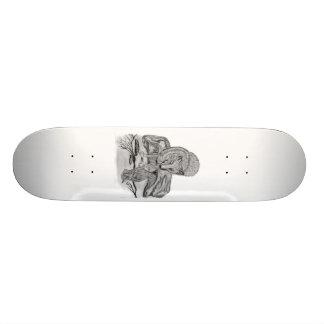 Wolf mit Rabe 20,6 Cm Skateboard Deck
