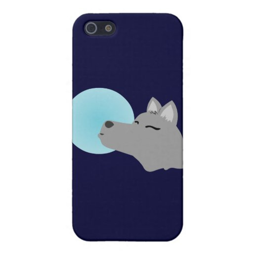 Wolf-Mond iPhone 5 Cover