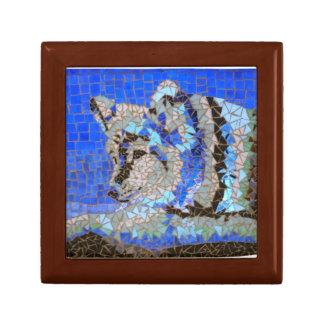 Wolf-Mosaik Erinnerungskiste