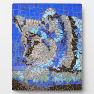 Wolf-Mosaik Fotoplatte