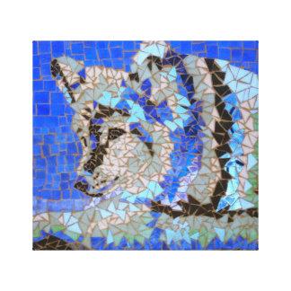 Wolf-Mosaik Leinwanddruck
