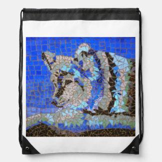 Wolf-Mosaik Turnbeutel