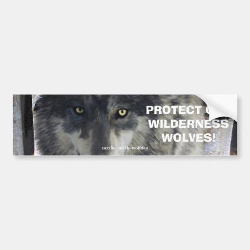 WOLF MUSTERT Tier-Erhaltungs-Autoaufkleber